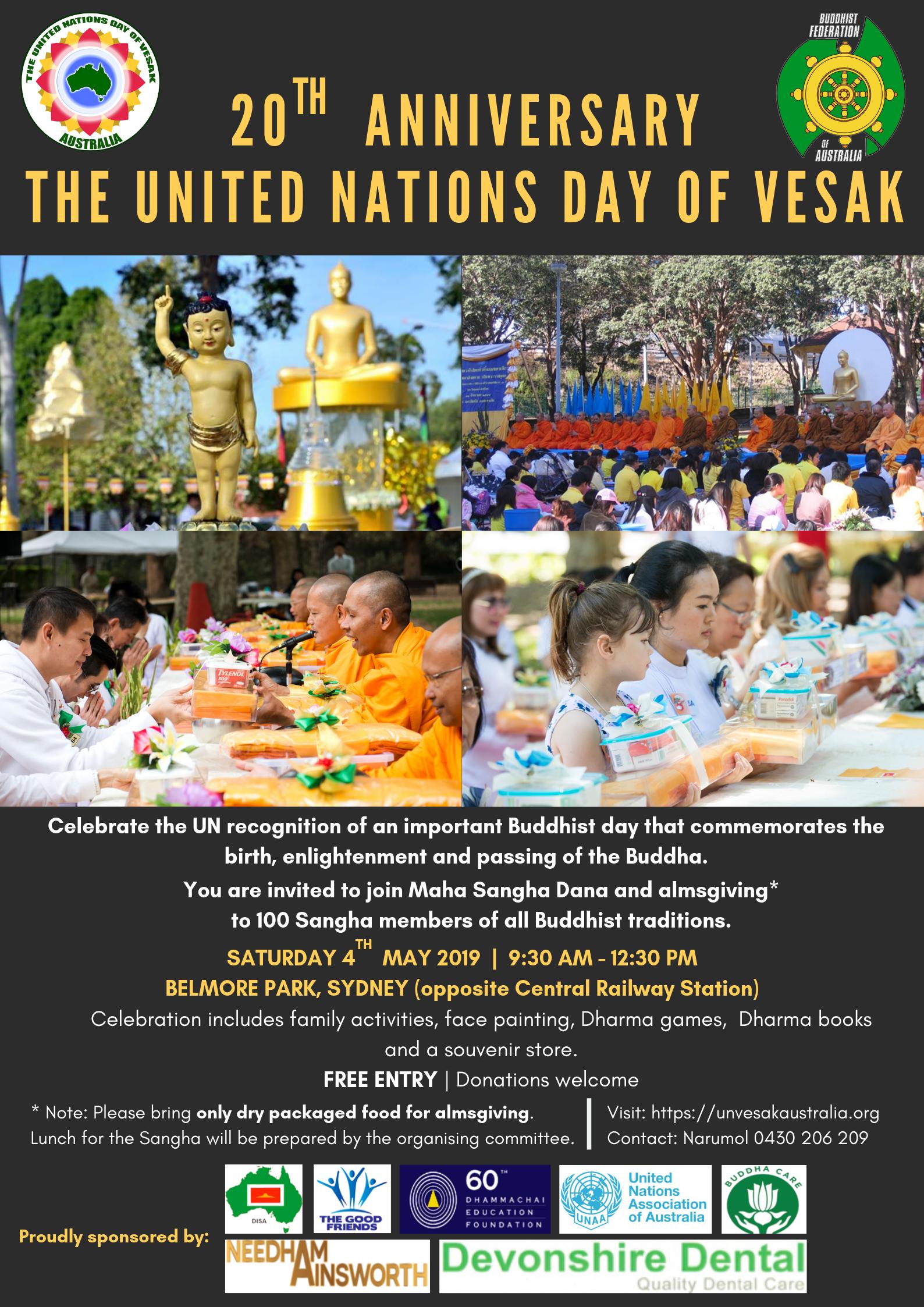 Australian Observance of the United Nations Day of Vesak – a